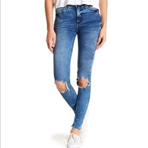 Free People Busted Knee Skinny Distressed Jeans